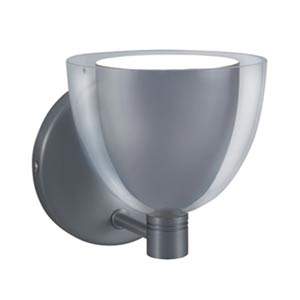 Lina Chrome Wall Sconce with Chrome Exterior/White Interior Glass