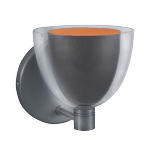 Lina Gun metal Wall Sconce with Gun Metal Exterior/Orange Interior Glass