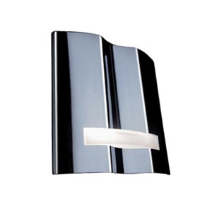 Grok Mona Chrome Wall Sconce with Opal Glass