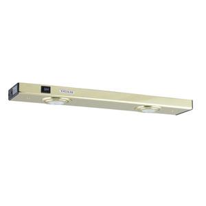 Polished Brass Two-Light Xenon Minuet Light Strip