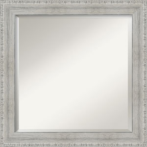 White 24-Inch Bathroom Wall Mirror
