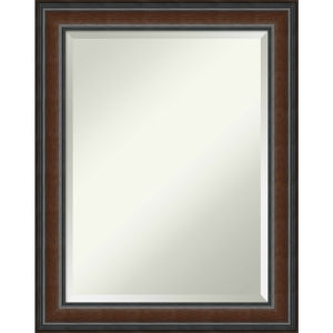 Cyprus Walnut 23W X 29H-Inch Decorative Wall Mirror