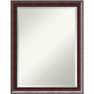 Country Walnut 22W X 28H-Inch Decorative Wall Mirror