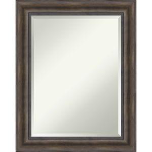 Brown 23W X 29H-Inch Decorative Wall Mirror