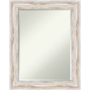 Alexandria White 23W X 29H-Inch Bathroom Vanity Wall Mirror