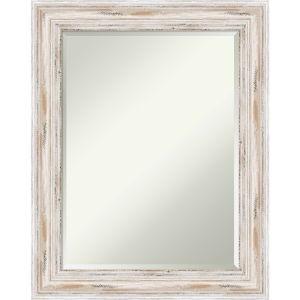 Alexandria White 23W X 29H-Inch Bathroom Vanity Wall Mirror