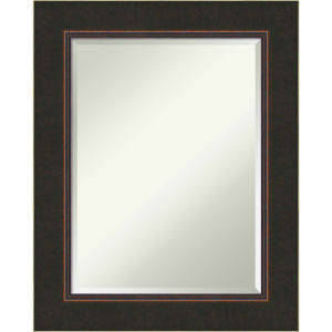 Milano Bronze 24W X 30H-Inch Bathroom Vanity Wall Mirror