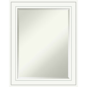 Craftsman White 23W X 29H-Inch Bathroom Vanity Wall Mirror