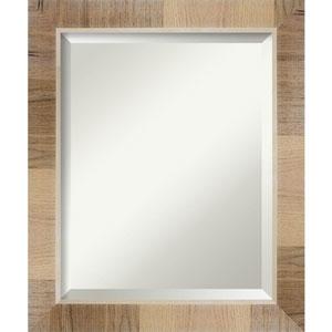 Brown 20-Inch Bathroom Wall Mirror