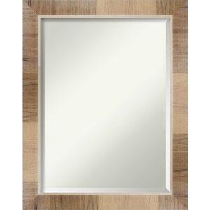 Brown 22-Inch Bathroom Wall Mirror