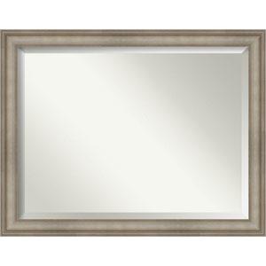 Mezzanine Antique Silver 45-Inch Bathroom Wall Mirror