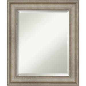 Mezzanine Antique Silver 21-Inch Bathroom Wall Mirror