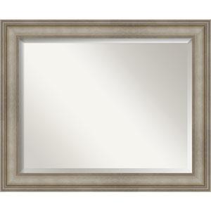 Mezzanine Antique Silver 33-Inch Bathroom Wall Mirror