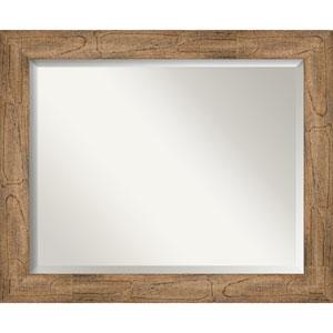 Owl Brown 33-Inch Bathroom Wall Mirror