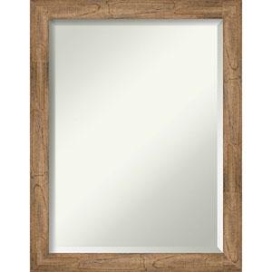 Owl Brown 21-Inch Narrow Bathroom Wall Mirror