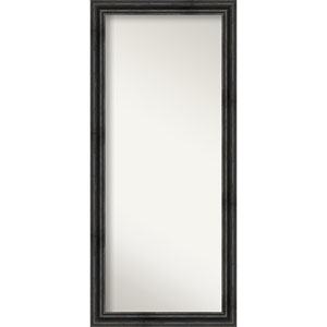 Rustic Pine Black 29-Inch Floor Mirror