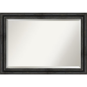 Rustic Pine Black 41-Inch Bathroom Wall Mirror