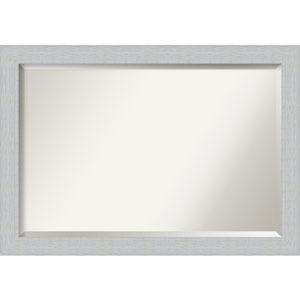 Shiplap White 40-Inch Bathroom Wall Mirror