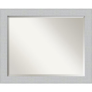 Shiplap White 32-Inch Bathroom Wall Mirror