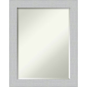 Shiplap White 22-Inch Bathroom Wall Mirror