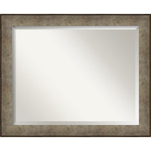 Pounded Silver 33-Inch Wall Mirror