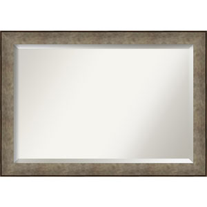 Pounded Silver 41-Inch Bathroom Wall Mirror