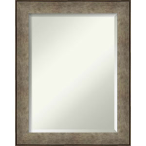 Pounded Silver 23-Inch Bathroom Wall Mirror