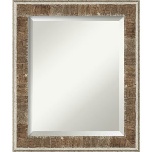 Farmhouse Brown 21-Inch Wall Mirror