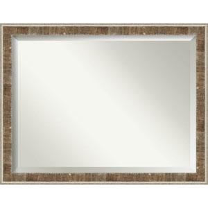 Farmhouse Brown 45-Inch Bathroom Wall Mirror
