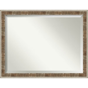 Farmhouse Brown 45-Inch Wall Mirror