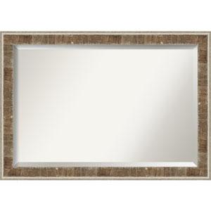 Farmhouse Brown 41-Inch Bathroom Wall Mirror