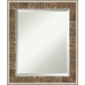 Farmhouse Brown 21-Inch Bathroom Wall Mirror