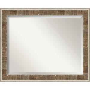 Farmhouse Brown 33-Inch Bathroom Wall Mirror