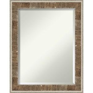 Farmhouse Brown 23-Inch Bathroom Wall Mirror