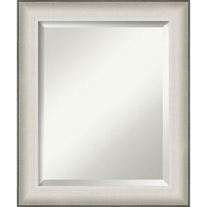 Allure White 21-Inch Bathroom Wall Mirror