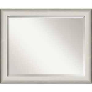 Allure White 33-Inch Bathroom Wall Mirror