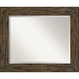 Fencepost Brown 35-Inch Wall Mirror