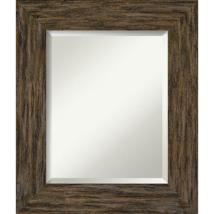 Fencepost Brown 23-Inch Wall Mirror