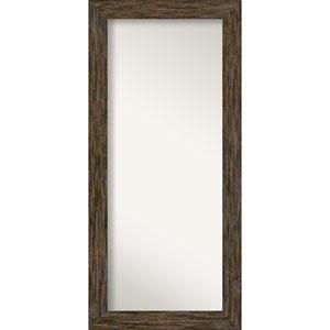 Fencepost Brown 31-Inch Floor Mirror
