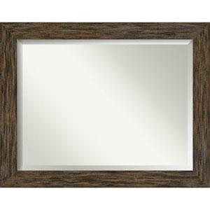 Fencepost Brown 47-Inch Bathroom Wall Mirror