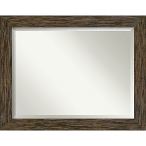 Fencepost Brown 47-Inch Wall Mirror