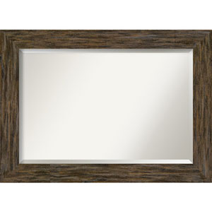 Fencepost Brown 43-Inch Bathroom Wall Mirror