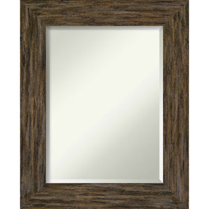 Fencepost Brown 25-Inch Wall Mirror