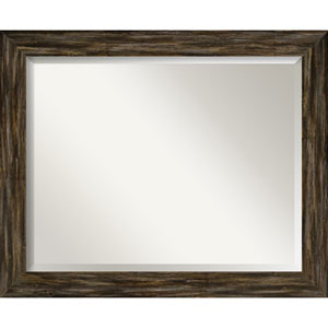 Fencepost Brown 33-Inch Wall Mirror