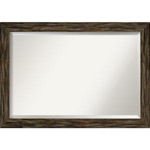 Fencepost Brown 41-Inch Wall Mirror
