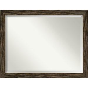 Fencepost Brown 45-Inch Wall Mirror