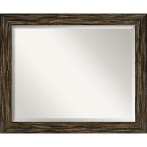 Fencepost Brown 33-Inch Bathroom Wall Mirror