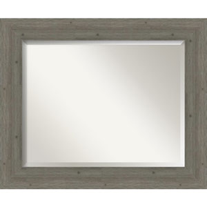 Fencepost Gray 35-Inch Wall Mirror