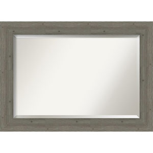 Fencepost Gray 43-Inch Wall Mirror