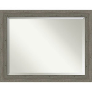 Fencepost Gray 47-Inch Wall Mirror